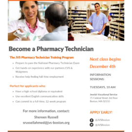 JVS-Pharmacy Technician Training Program
