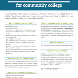 Free Tuition for Community College