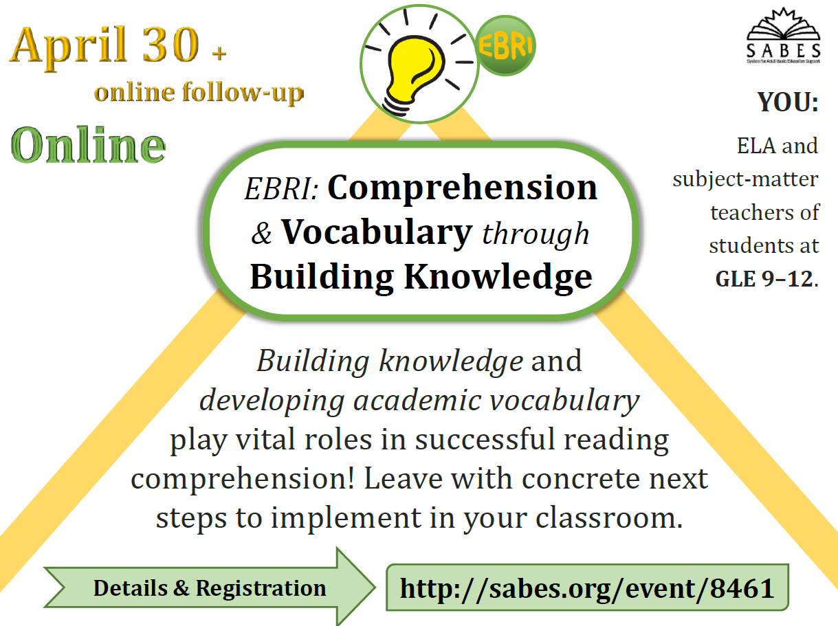 PD: EBRI Comprehension & Vocabulary through Building Knowledge