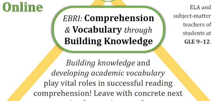 SABES: Reading Comprehension and Vocabulary through Building Knowledge