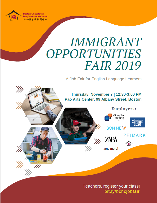 Immigrant Opportunities Job Fair 2019 - at BCNC